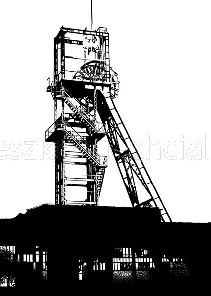 illustration with a mining motive
