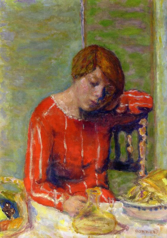 Striped Blouse - Pierre Bonnard