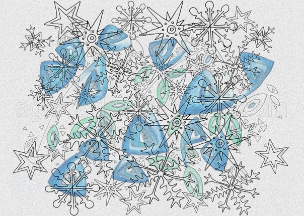 winter decorative pattern