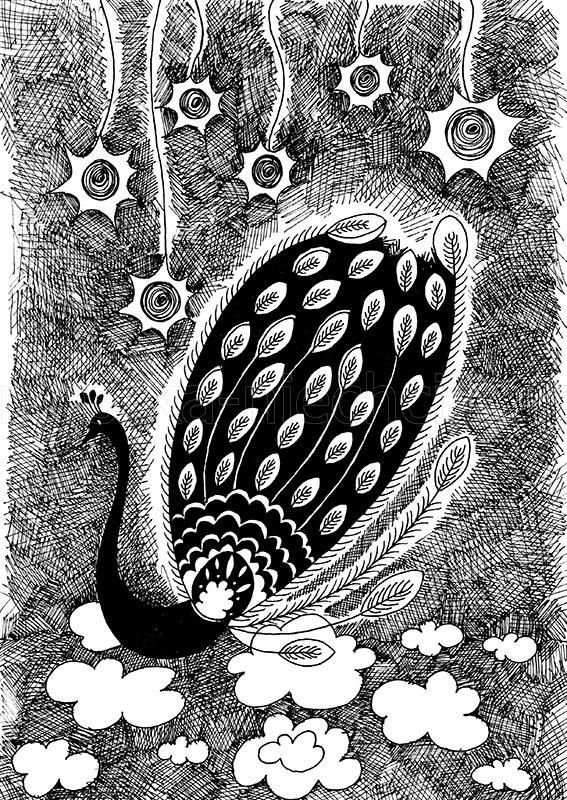 rysunek czarno-biały