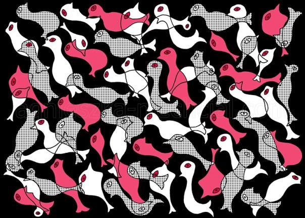 wzór na tkaninę