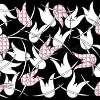 motyw kwiatowy w grafice
