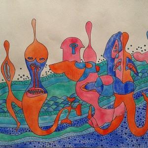kolorowa akwarela
