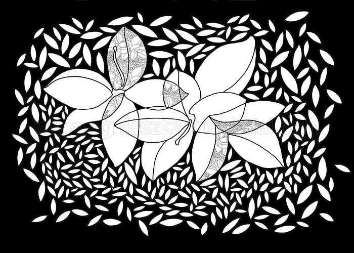 wzór kwiatowy