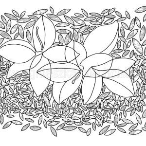 dekoracyjny wzór roślinny
