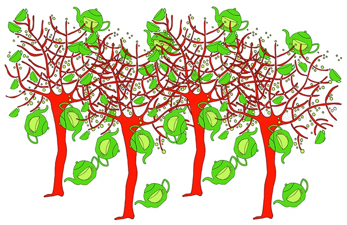 roślinny wzór dekoracyjny