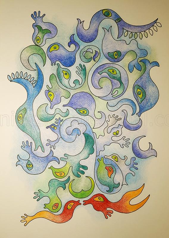 rysunek abstrakcyjny