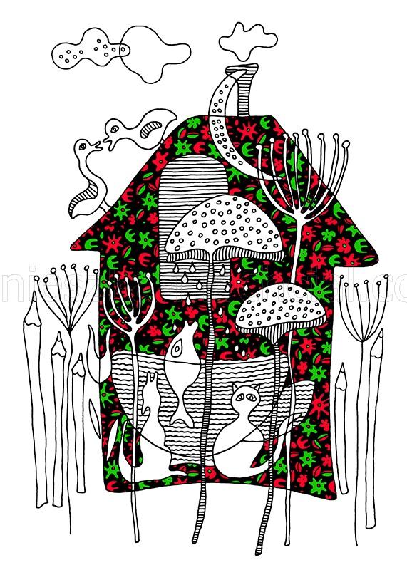 dekoracyjna grafika abstrakcyjna