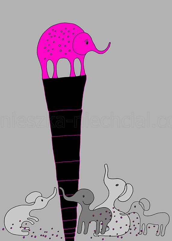 grafika bajkowa z motywem zwierzęcym