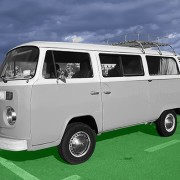 Volkswagen mikrobus niebieski