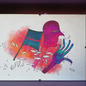 oryginalny kolorowy rysunek