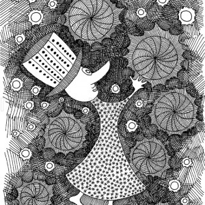 oryginalny rysunek czarno-biały