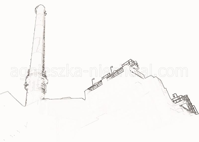 Przemysłowe linie miasta - eps